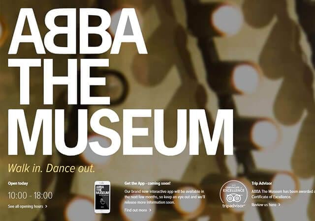 Abba the Museum website