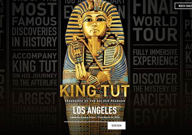 King Tut Exhibition website